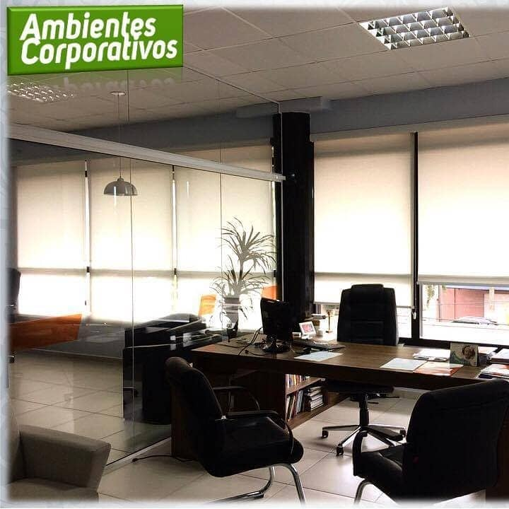 Cortinas/Persianas para Ambientes Corporativos